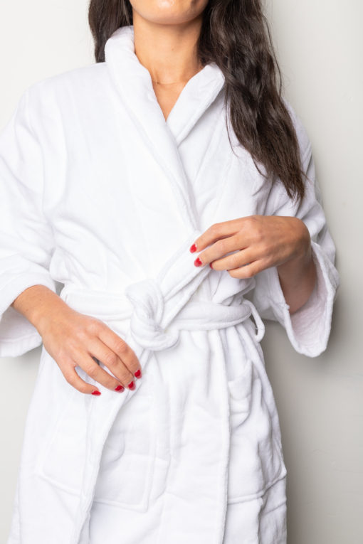 Terry Cotton Bath Robe - Smart silk